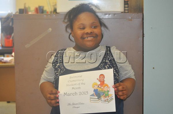 Student of the Month-March