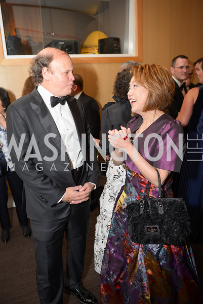 Mark Ein, Dr. Sachiko Kuno,  The Washington Business Hall of Fame, at the National Building Museum, November 28, 2018.  Photo by Ben Droz.