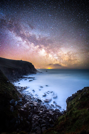 Porthchapel under the Milky Way