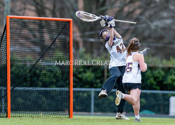 Broughton girls varsity lacrosse vs Middle Creek. February 28, 2020. D4S_0353