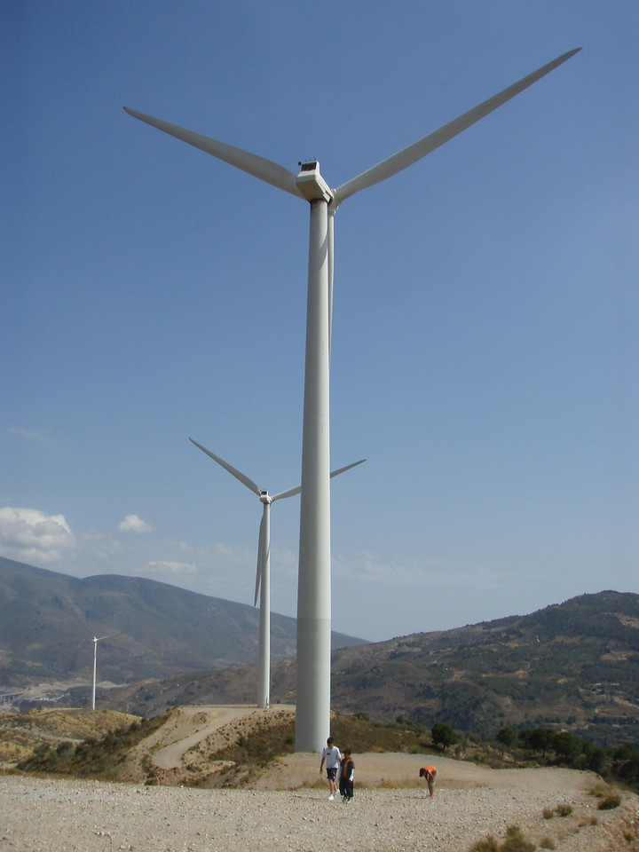 Wind Turbines near Lanjaron in La Alpujarra