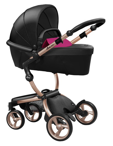 Mima_Xari_Product_Shot_Black_Flair_Rose_Gold_Chassis_Hot_Magenta_Carrycot.jpg