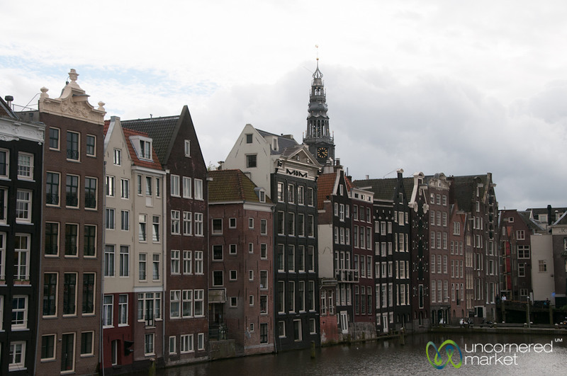 Amsterdam Architecture Along Canal