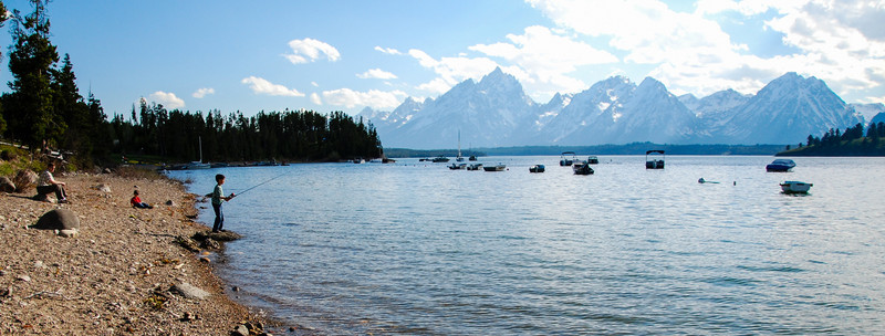 What a place to fish (Jackson Lake)