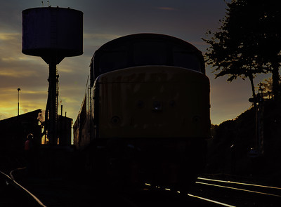 Diesels at the Mid-Hants Railway.