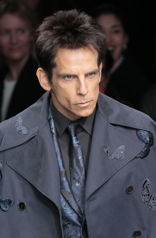 . Actor Ben Stiller wears a creation for Valentino\'s ready-to-wear fall-winter 2015-2016 fashion collection presented during the Paris fashion week, in Paris, France, Tuesday, March 10, 2015.(AP Photo/Jacques Brinon)