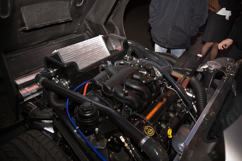 The engine is based on an all-aluminum 3.0 liter Jaguar V6