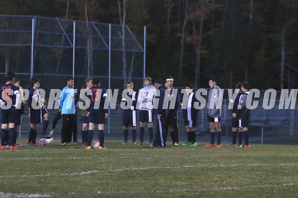 Sullivan West vs. Tri-Valley Boys Soccer Senior Night 10-14-16