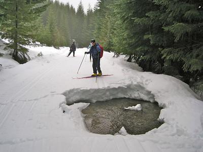 Hyak Skiing in the Rain January 16, 2011