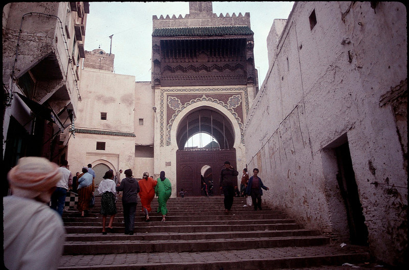 the walled pedestrian city of Fez