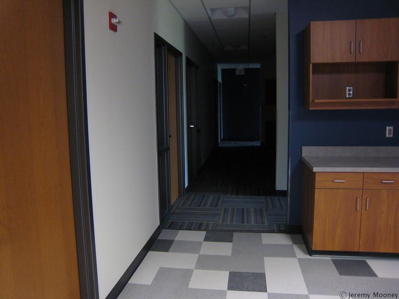 Student development office hallway
