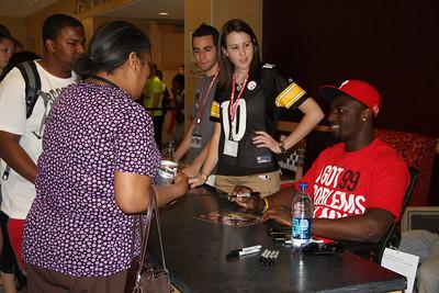 Celebrity Signing Series - Santonio Holmes - April 6, 2010