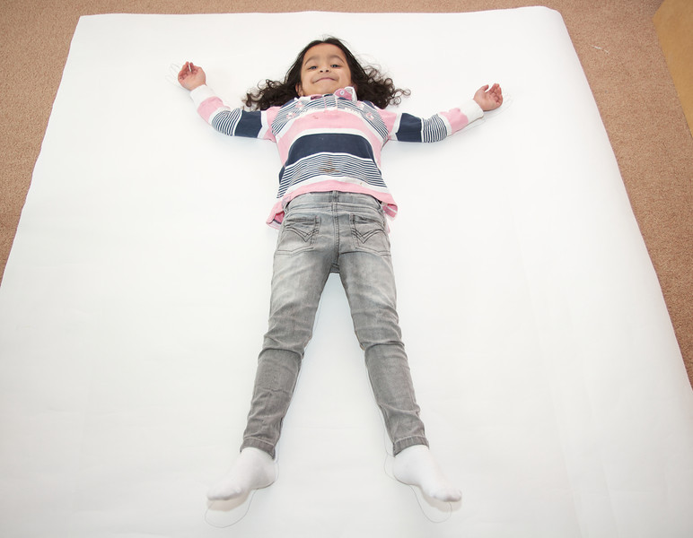 Find a paper big enough to trace full body!