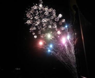 Friday night fireworks at Hilton Hawaiian Village on Waikiki Beach