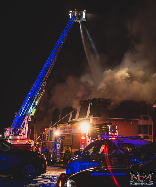 Mt Clemens, 2nd Alarm Apartment Fire 2-13-2021