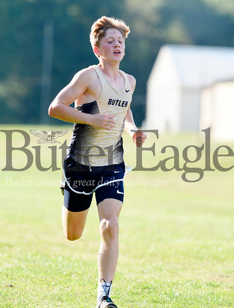 Harold Aughton/Butler Eagle: Butler's Sage Vavro won the boys cross country meet at Seneca Valley with a time of 16:54.