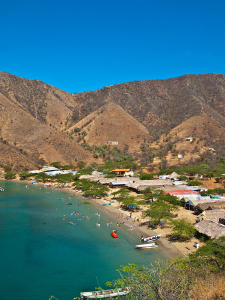 smaller beach near taganga