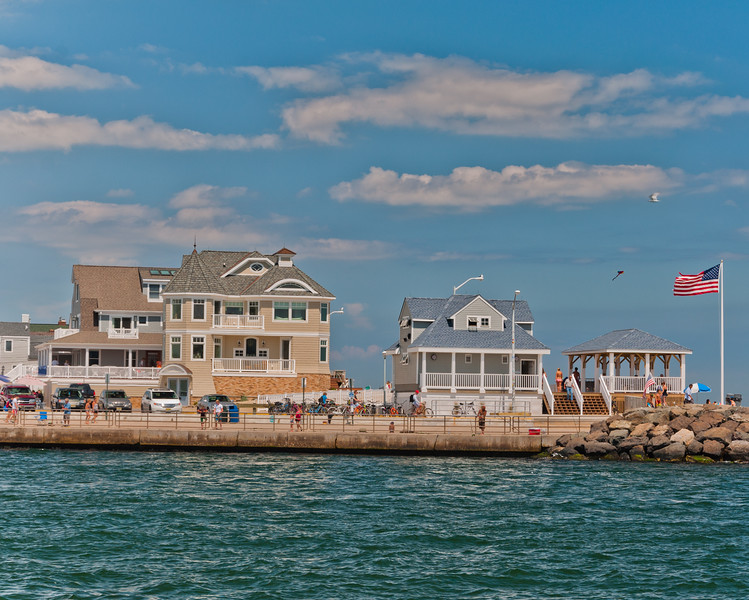 Houses and Pavillion on Manasquan Inlet