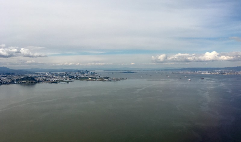 Leaving San Francisco on a chilly winter morning