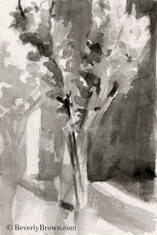watercolor value study - Beverly Brown
