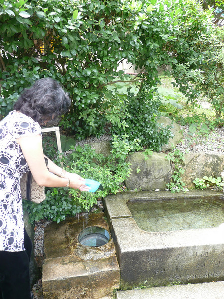My mom didn't hear the tour guide tell us that people drink from this fountain to become fertile...