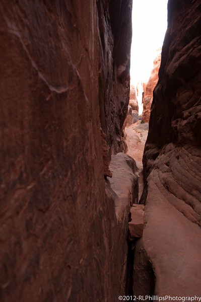 We hiked through this very narrow set of arch walls.