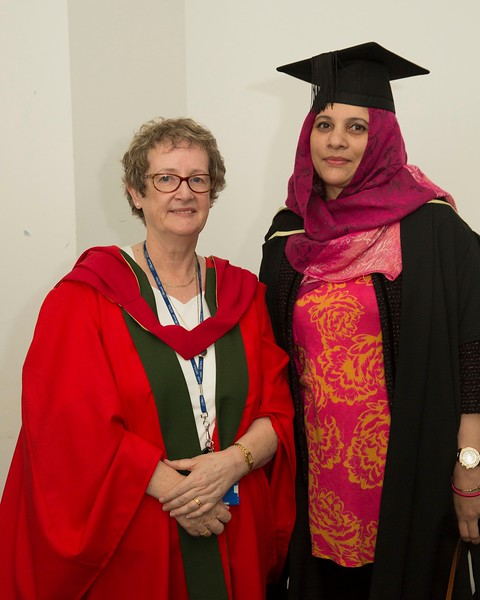 28/10/2015 Image Free to Use. Conferring at Waterford Institute of Technology. l-r; Meave O'Grady WIT and Saba Khan from Waterford Master of Arts in Teaching & Learning in Further & Higher Education.Photo; Mary Browne