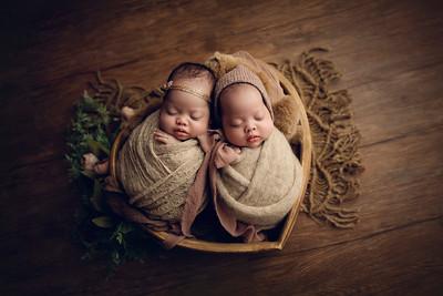 Julia and Sophia L Newborn