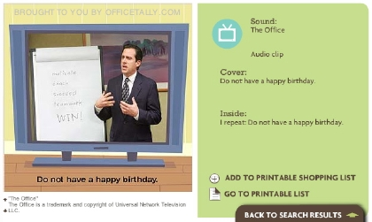 The Office Michael Scott Birthday Card