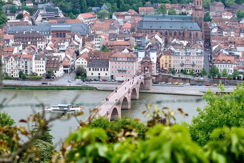 The old bridge over the Neckar in Heidelberg