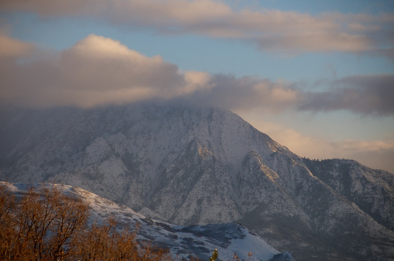 Late day rays on the Wasatch