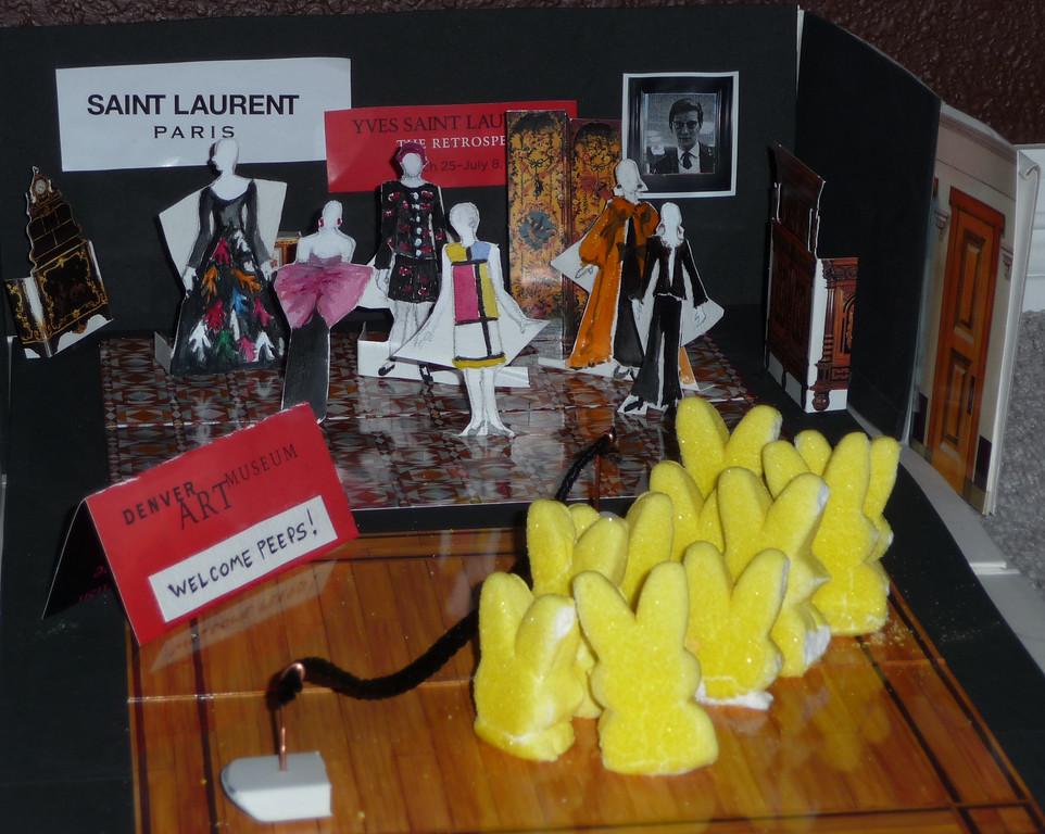 . Peeps View Yves St. Laurent Exhibit.    Natalie Roesch  74