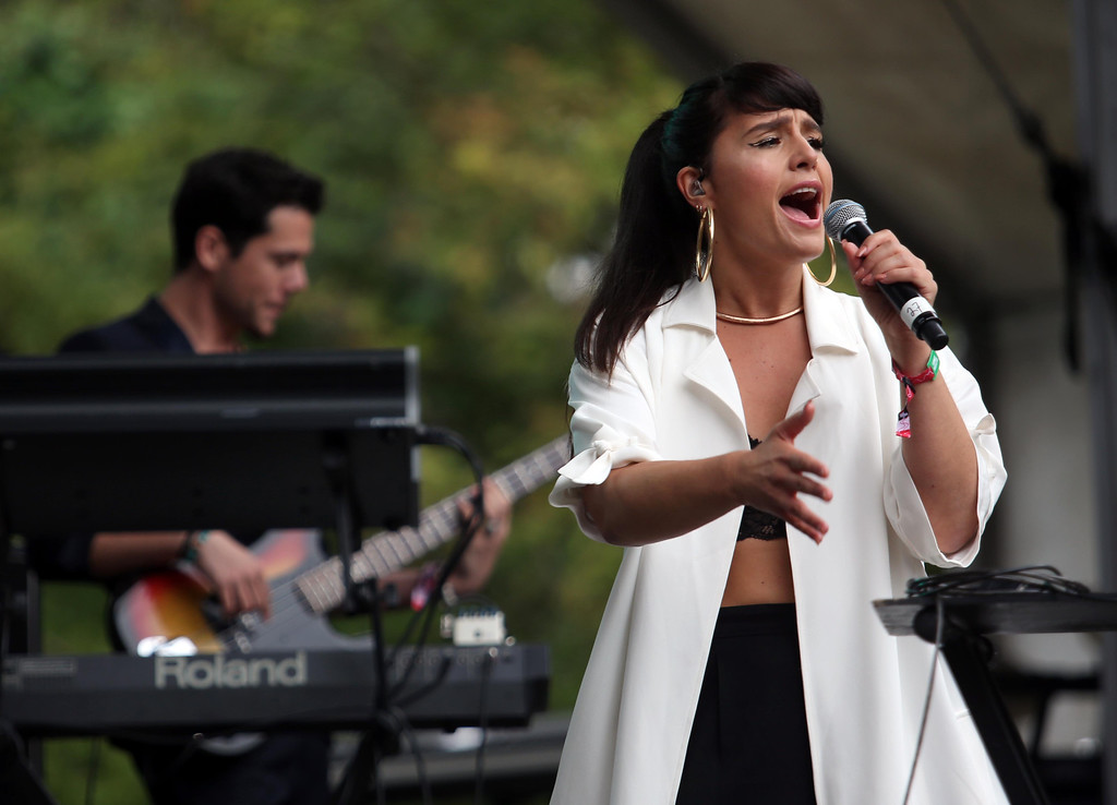 . Jessie Ware performs on the Sutro stage during the 6th annual Outside Lands Music and Arts Festival in Golden Gate Park in San Francisco, Calif., on Friday, Aug. 9, 2013.  (Jane Tyska/Bay Area News Group)