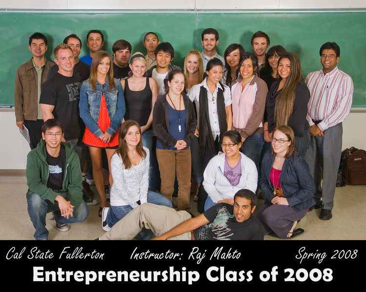 CSUF Entrepreneurship Class Photo - Spring 2008