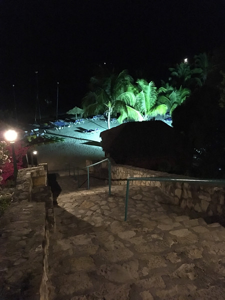 view of the main beach at night