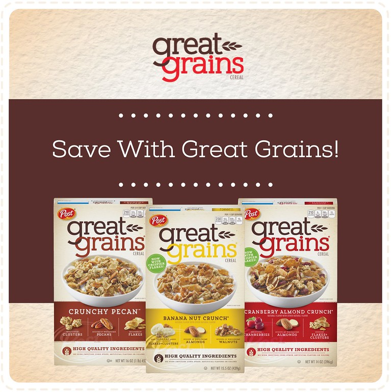 Don't miss this incredible iBotta offer for Great Grains! Earn $3.50 when you purchase any 2 Great Grains cereals! #ad #GreatGrainsGreatStart #CerealAnytime