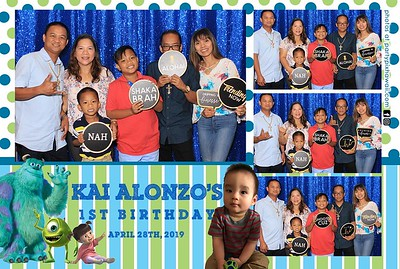 Kai Alonzo's 1st Birthday (LED Dazzle Booth)