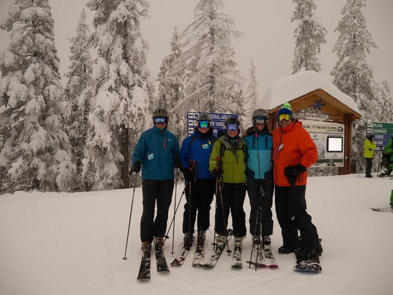 Ed, Jonathan, Ann, Susan, and Sean at Schweitzer New Years 12/13
