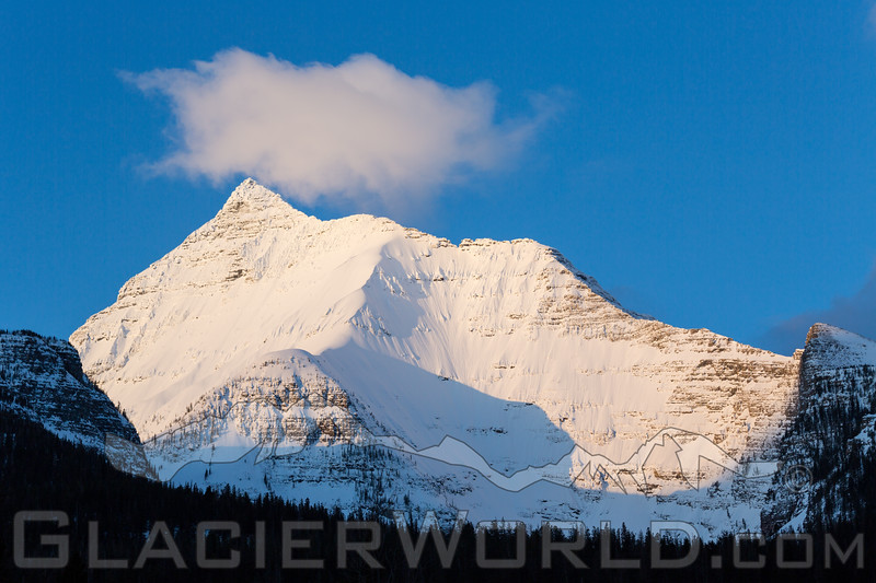 Surise on the northeast face of Mount Stimson that rises to 10,141 feet above sea level. (Craig Moore /GlacierWorld.com)
