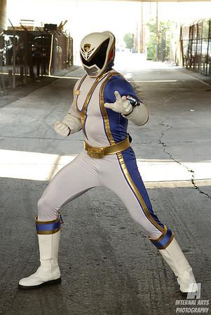 Ryan Turney as Blue SPD Ranger @ Anime Expo 2013