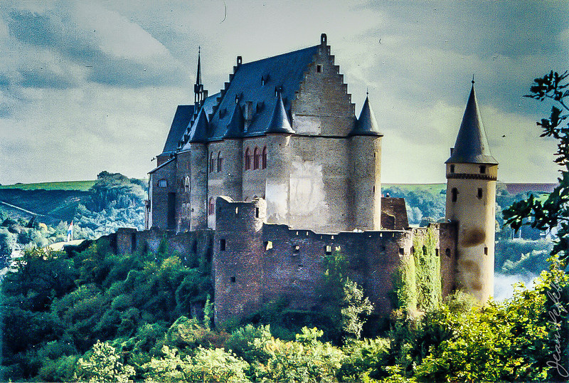 Vianden Castle in Luxembourg. One of the more dramatic places we visited on our 1992 Honeymoon trip to Europe.