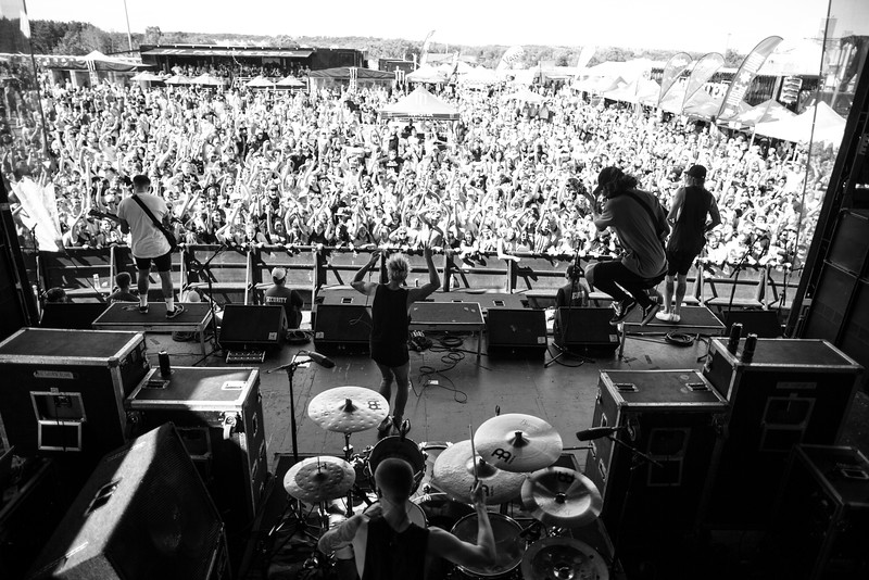 The Word Alive in Shakopee, MN on Vans Warped Tour 2016