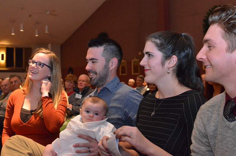 Welcome to my baptism story.  My name is Connor and these are my parents and God parents.