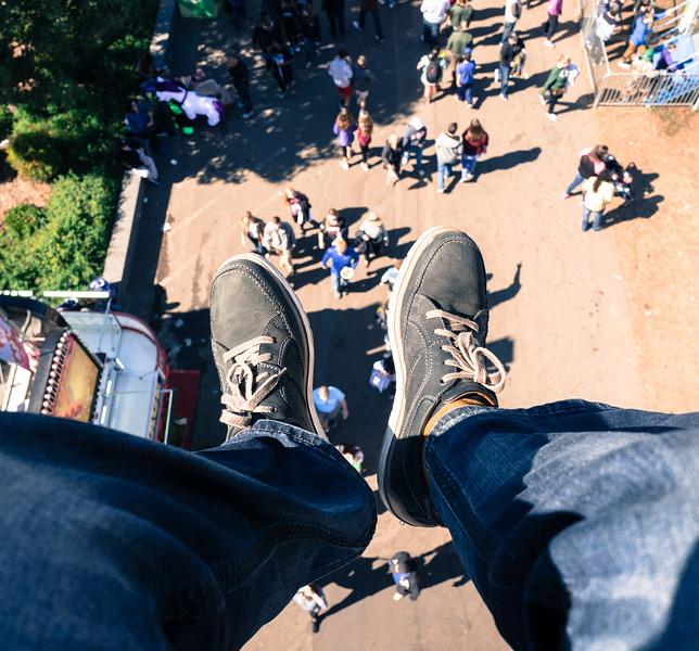Top down view at NC State Fair 2016