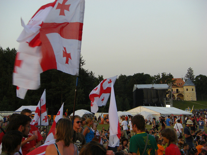Georgian Flags at b2gether Festival - Lithuania