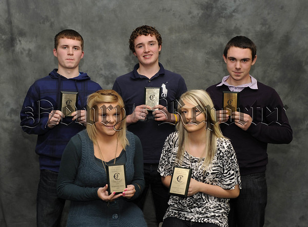 Gary McShane, Jack Mulligan, Ryam Connolly, Nicole McGlade and Doreen Martin receive Endeavour Awards 10W45N601