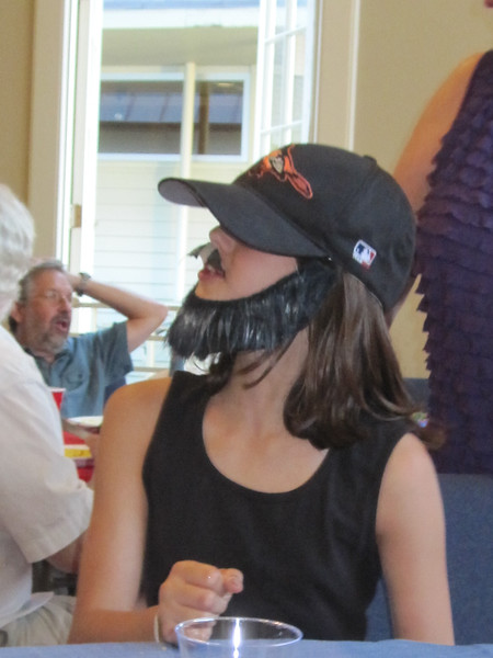 see my daughter wearing a beard was ... interesting.