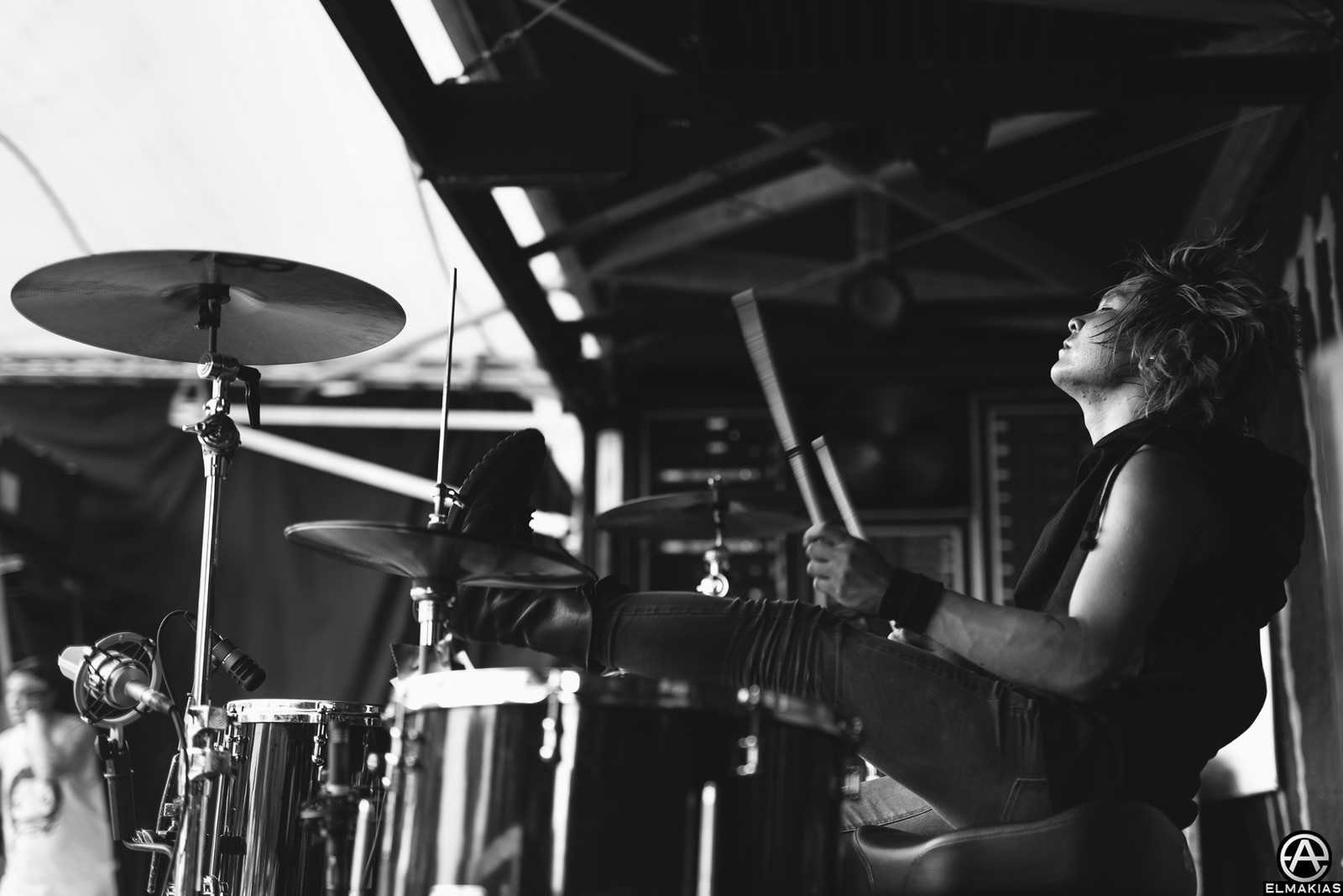 Tatsuya Amano of Crossfaith live at Vans Warped Tour 2015 by Adam Elmakias