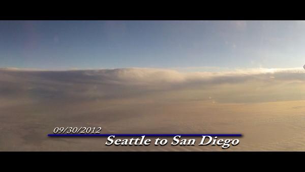 2012/09/30 - Flight Seattle to San Diego