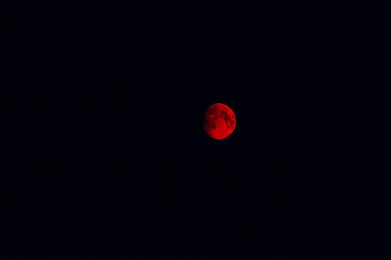 Smokey Red Moon